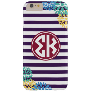 Sigma Kappa | Monogram Stripe Pattern Barely There iPhone 6 Plus Case
