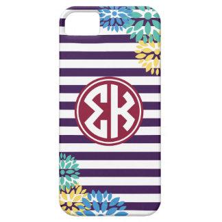 Sigma Kappa | Monogram Stripe Pattern Case For The iPhone 5