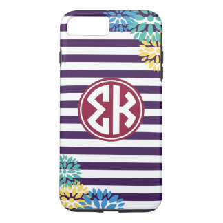 Sigma Kappa | Monogram Stripe Pattern iPhone 8 Plus/7 Plus Case