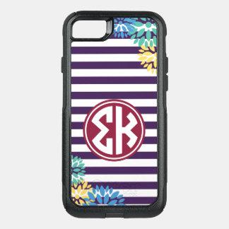 Sigma Kappa   Monogram Stripe Pattern OtterBox Commuter iPhone 8/7 Case