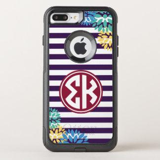 Sigma Kappa | Monogram Stripe Pattern OtterBox Commuter iPhone 8 Plus/7 Plus Case