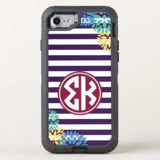 Sigma Kappa | Monogram Stripe Pattern OtterBox Defender iPhone 7 Case