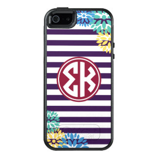 Sigma Kappa   Monogram Stripe Pattern OtterBox iPhone 5/5s/SE Case