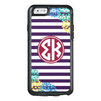 Sigma Kappa | Monogram Stripe Pattern OtterBox iPhone 6/6s Case