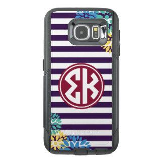 Sigma Kappa | Monogram Stripe Pattern OtterBox Samsung Galaxy S6 Case