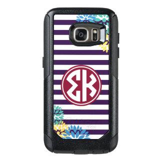 Sigma Kappa | Monogram Stripe Pattern OtterBox Samsung Galaxy S7 Case