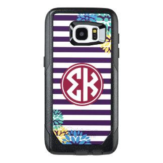 Sigma Kappa | Monogram Stripe Pattern OtterBox Samsung Galaxy S7 Edge Case