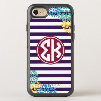 Sigma Kappa   Monogram Stripe Pattern OtterBox Symmetry iPhone 8/7 Case