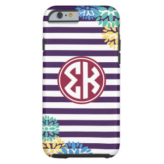 Sigma Kappa | Monogram Stripe Pattern Tough iPhone 6 Case