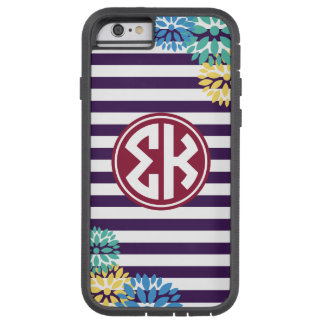 Sigma Kappa | Monogram Stripe Pattern Tough Xtreme iPhone 6 Case