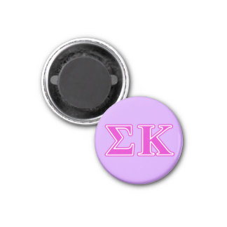 Sigma Kappa Pink Letters 3 Cm Round Magnet