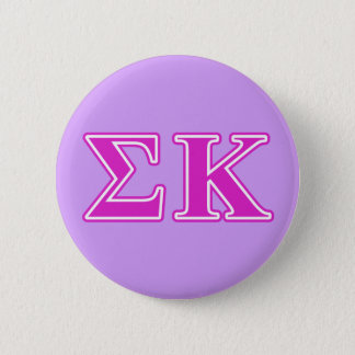 Sigma Kappa Pink Letters 6 Cm Round Badge