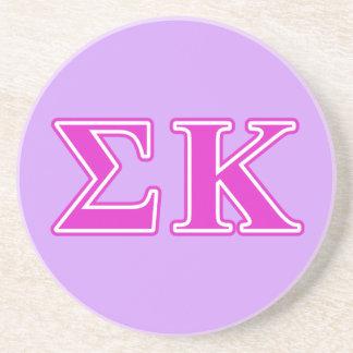 Sigma Kappa Pink Letters Coasters