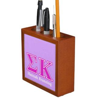 Sigma Kappa Pink Letters Desk Organiser