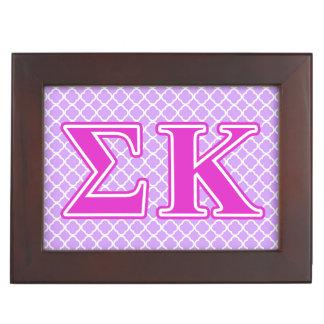 Sigma Kappa Pink Letters Keepsake Boxes
