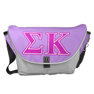 Sigma Kappa Pink Letters Messenger Bags