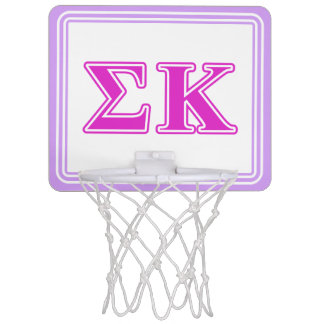 Sigma Kappa Pink Letters Mini Basketball Hoop