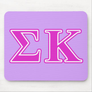 Sigma Kappa Pink Letters Mouse Mat