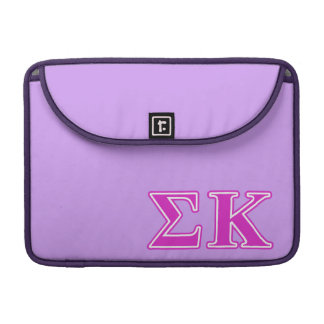 Sigma Kappa Pink Letters Sleeve For MacBook Pro