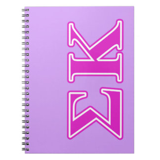Sigma Kappa Pink Letters Spiral Notebook