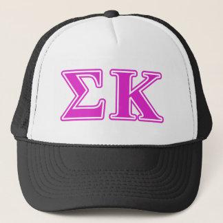 Sigma Kappa Pink Letters Trucker Hat