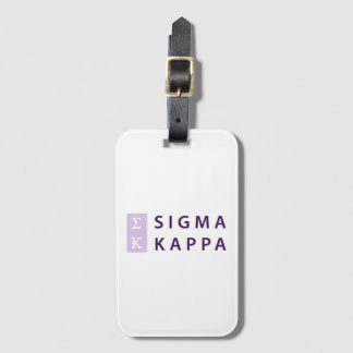 Sigma Kappa Stacked Luggage Tag