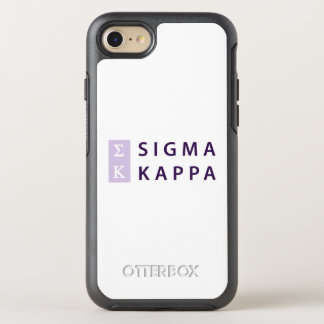 Sigma Kappa Stacked OtterBox Symmetry iPhone 8/7 Case