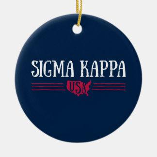 Sigma Kappa USA Christmas Ornament