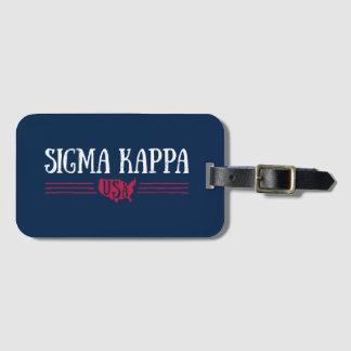 Sigma Kappa USA Luggage Tag
