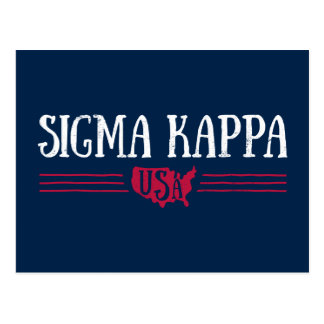 Sigma Kappa USA Postcard