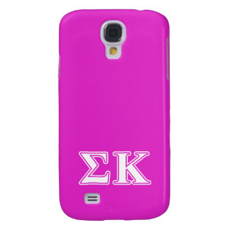 Sigma Kappa White and Lavender Letters Galaxy S4 Case