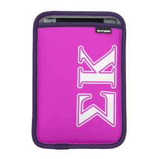 Sigma Kappa White and Lavender Letters iPad Mini Sleeve