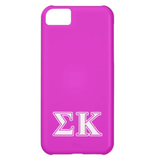 Sigma Kappa White and Lavender Letters iPhone 5C Case