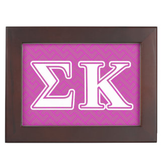Sigma Kappa White and Lavender Letters Memory Boxes