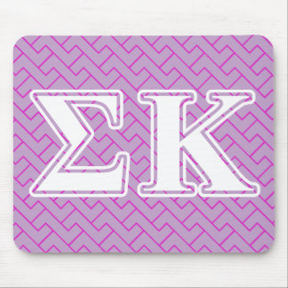 Sigma Kappa White and Lavender Letters Mouse Pad