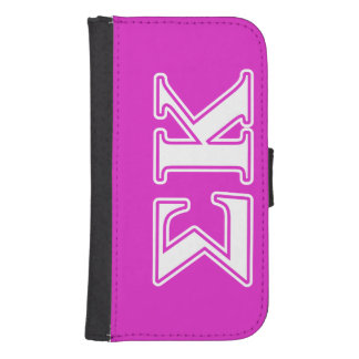 Sigma Kappa White and Lavender Letters Samsung S4 Wallet Case