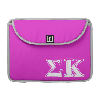 Sigma Kappa White and Lavender Letters Sleeve For MacBook Pro