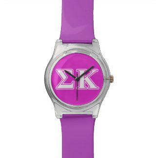 Sigma Kappa White and Lavender Letters Watch