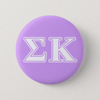 Sigma Kappa White and Pink Letters 6 Cm Round Badge