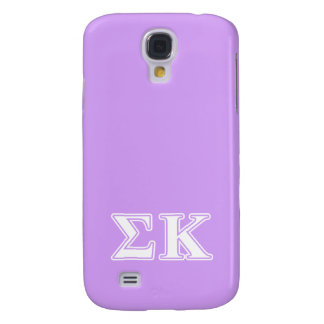 Sigma Kappa White and Pink Letters Galaxy S4 Case