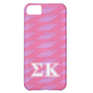 Sigma Kappa White and Pink Letters iPhone 5C Case