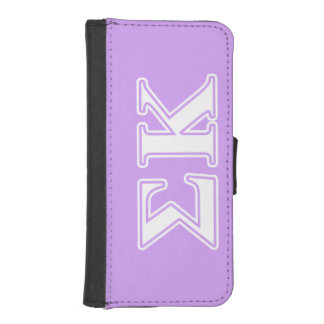 Sigma Kappa White and Pink Letters iPhone SE/5/5s Wallet Case