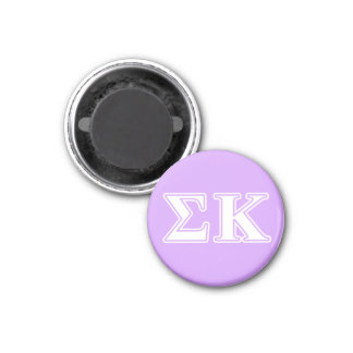 Sigma Kappa White and Pink Letters Magnet
