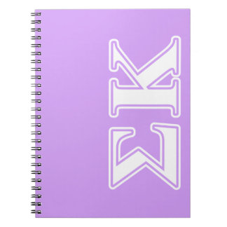 Sigma Kappa White and Pink Letters Notebook