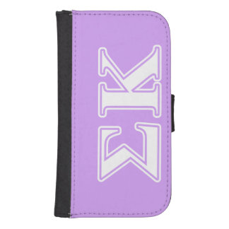 Sigma Kappa White and Pink Letters Samsung S4 Wallet Case