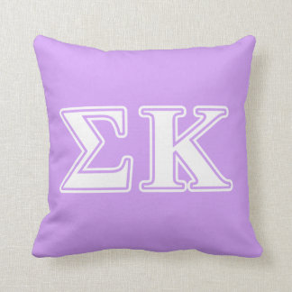 Sigma Kappa White and Pink Letters Throw Cushions