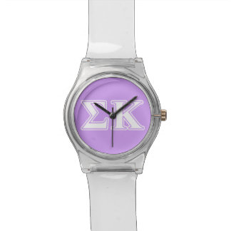 Sigma Kappa White and Pink Letters Watch