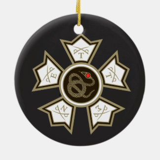 Sigma Nu Badge Christmas Ornament