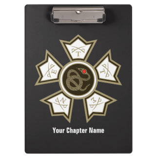 Sigma Nu Badge Clipboard