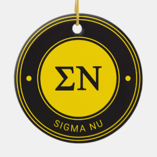 Sigma Nu | Badge Round Ceramic Decoration